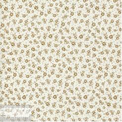 Ткань хлопок «Незабудки на молочном», JL-00069, 75х50см