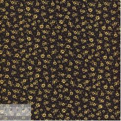 Ткань хлопок «Незабудки на чёрном», JL-00071, 75х50см