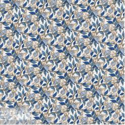 Ткань хлопок «Зайцы голубой», 75х50см, JL-00092