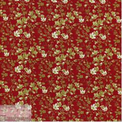 Ткань хлопок «Ботаника красный», 75х50см, JL-00101