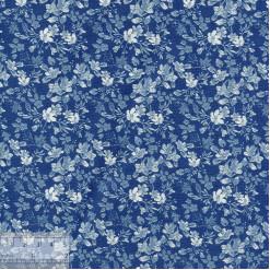 Ткань хлопок «Ботаника синий», 75х50см, JL-00102