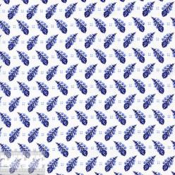 Ткань хлопок «Пёрышки на белом», 75х50см, JL-00104