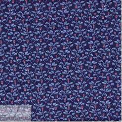 Ткань хлопок «Мелисса на синем», 75х50см, JL-00106