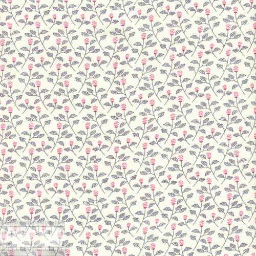 Ткань хлопок «Мелисса на молочном», 75х50см, JL-00107