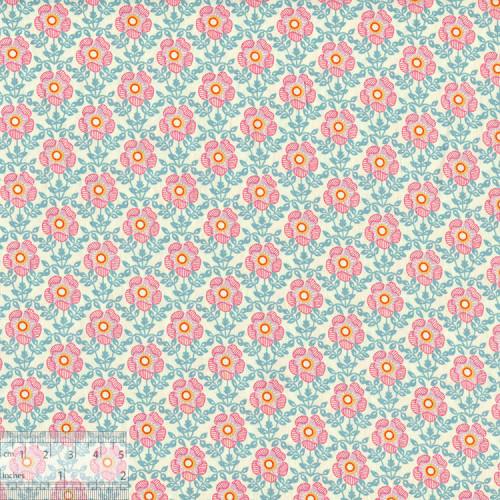 Ткань хлопок «Полли розовый», 75х50см, JL-00108