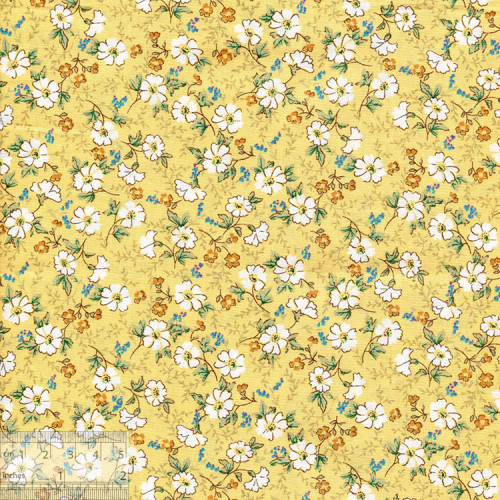 Ткань хлопок «Ромашки на жёлтом», 75х50см, JL-00114
