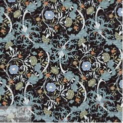 Ткань хлопок «Вильям на чёрном», 75х50см, JL-00117