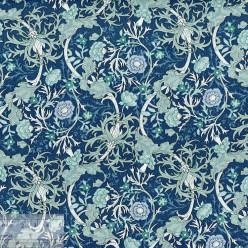 Ткань хлопок «Вильям на синем», 75х50см, JL-00118