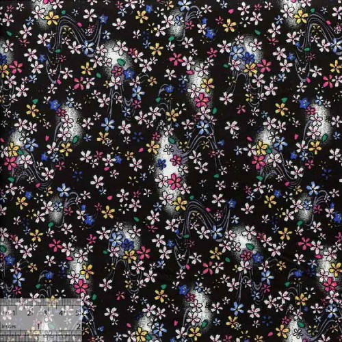 Ткань хлопок «Млечный путь черный», ZT-00005