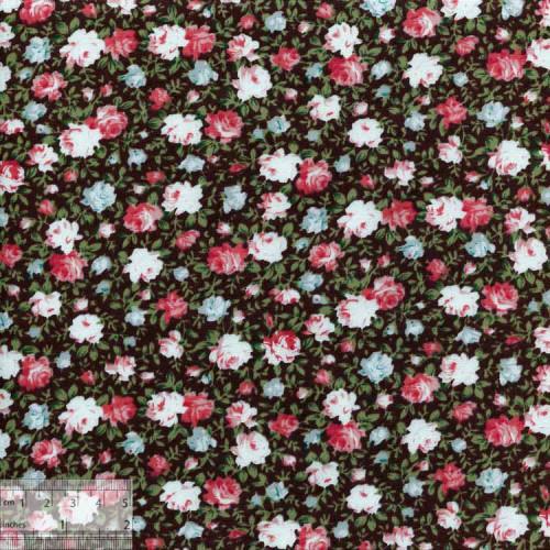 Ткань хлопок «Роза Мэри коричневый», ZT-00012