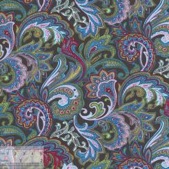Ткань хлопок «Восточный базар зелёный», ZT-00021