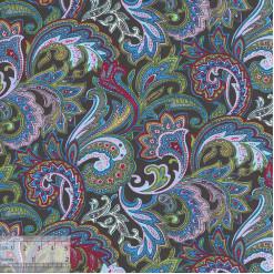 Ткань хлопок «Восточный базар зелёный», ZT-00021, 75х50см