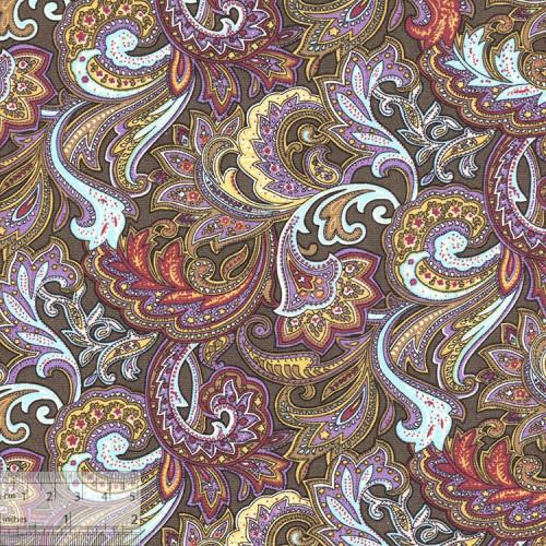Ткань хлопок «Восточный базар фиолетовый», ZT-00022, 75х50см