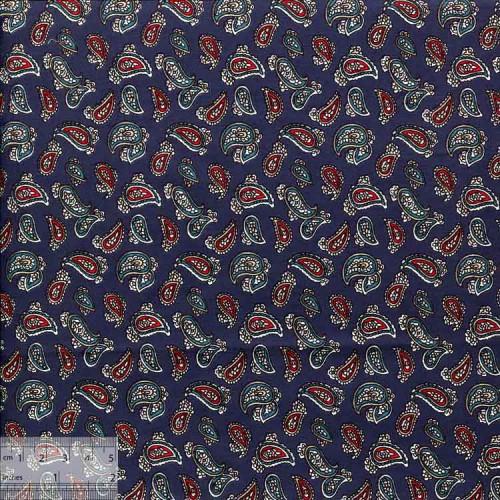 Ткань хлопок «Турецкий боб тёмно-синий», ZT-00035