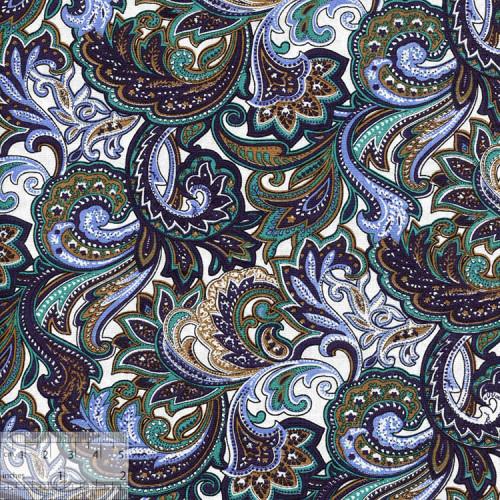 Ткань хлопок «Восточный базар изумрудный», ZT-00051