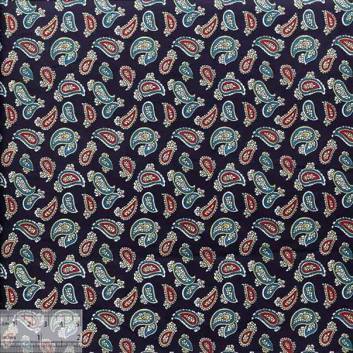 Ткань хлопок «Турецкий боб синий», ZT-00058