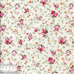Ткань хлопок «Розочки плетистые на сливочном», ZT-00070, 75х50см