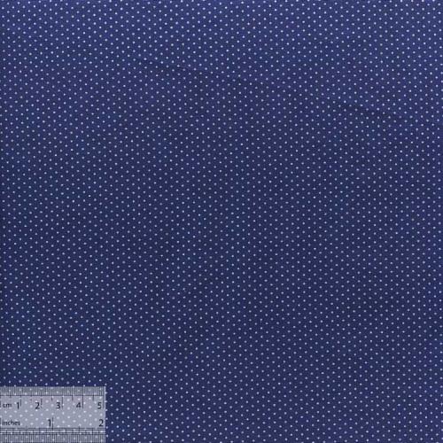 Ткань хлопок «Мелкие точечки на синем», ZT-00093