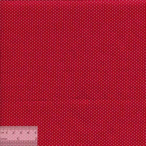Ткань хлопок «Мелкие точечки на красном», ZT-00096