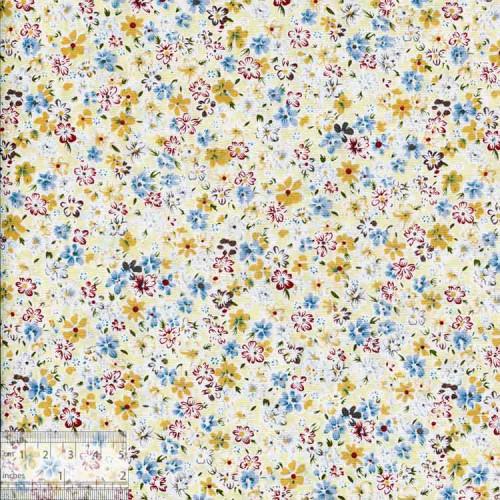 Ткань хлопок «Солнечный луг голубой», ZT-00112