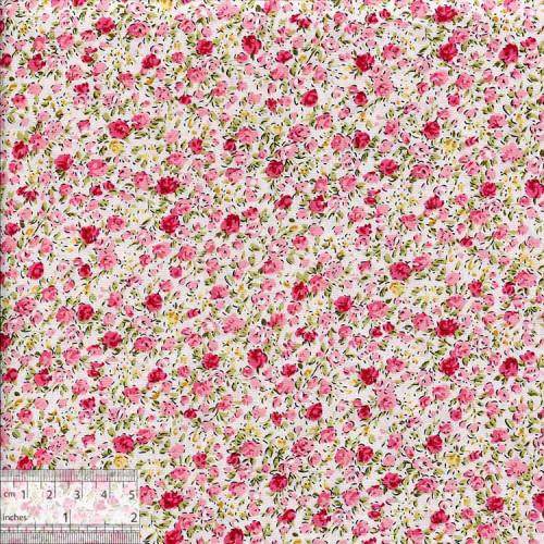 Ткань хлопок «Миниатюрные розочки на нежно-розовом», ZT-00113