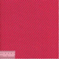 Ткань хлопок «Белые горошки на красном», ZT-00119, 75х50см