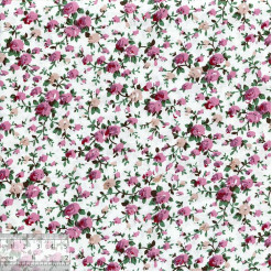 Ткань хлопок «Роза мини розовый», ZT-00122, 75х50см