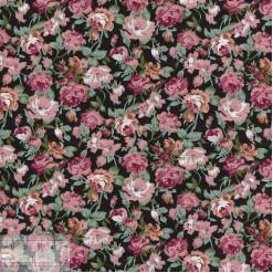 Ткань хлопок «Роза Мейди на чёрном», ZT-00126, 75х50см