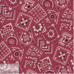 Ткань хлопок «Горгона красный», 75х50см, ZT-00138