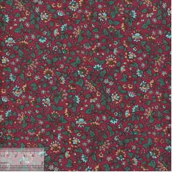 Ткань хлопок «Гарден бордо», 75х50см, ZT-00143